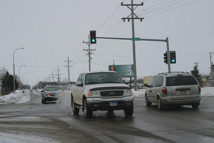 Busy intersection in Aberdeen