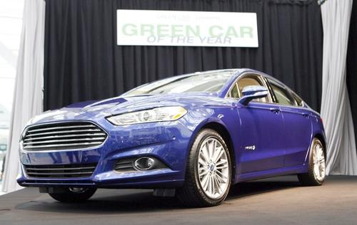 The all-new 2013 Ford Fusion has been named Green Car Journal's 2013 Green Car of the Year during a news conference at the L.A. Auto Show.
