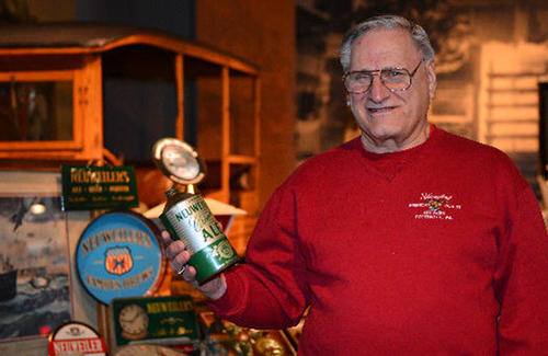 "Part of Warren ""Skeeter"" Ritter of Salisbury Township personal Neuweiler collectibles will be on display at the Neuweiler Brewery Exhibit which opens March 2 at America on Wheels in Allentown. Skeeter has been collecting for over 50 years."