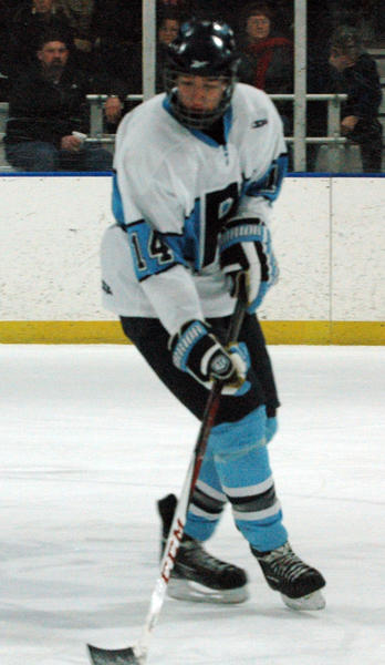 Petoskey senior defenseman Nick Trombley was one of 11 seniors who played in their final game of their respective careers Monday in a Division III pre-regional semifinal in Cheboygan. The Northmen fell to Sault Ste. Marie, 5-0.