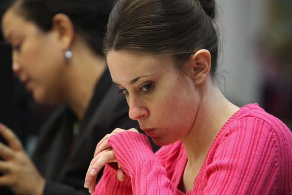 Casey Anthony,right, attends day 2 of scientific evidence hearing. File Photo/2011