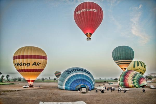 Hot-air balloon crash in Egypt kills 18 - Launch site