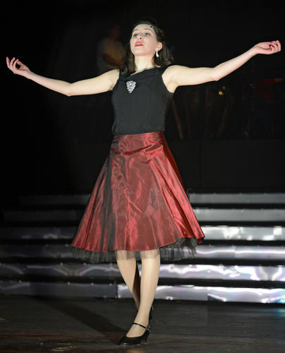 Olivia Muth plays Dorothy Brock in Southern Lehigh High School's musical 42nd Street on Monday night at the high school.