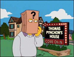 "The reclusive Thomas Pynchon, as portrayed on ""The Simpsons."""