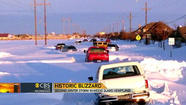 Missouri and Kansas awoke on Tuesday to another major snowstorm, the second in as many weeks, with six additional inches of snow blown by gusting winds into drifts as high as two feet and municipal officials warning motorists to be careful of treacherous roads.
