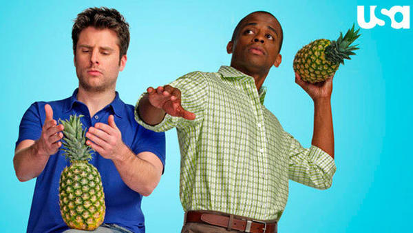 'Psych': The pineapple in (almost) every episode: The masterminds behind Psych have said there is a pineapple in (almost) every episode, so we set out on a mission to find said pineapples.  Some are the actual fruit, some are a derivative, and some are just mentions of pineapples.   There are a few episodes that dont have one, but even some episodes where USA said there was no pineapple, eagle-eyed viewers have spotted some possibilities anyway. Enjoy, Psych-Os!