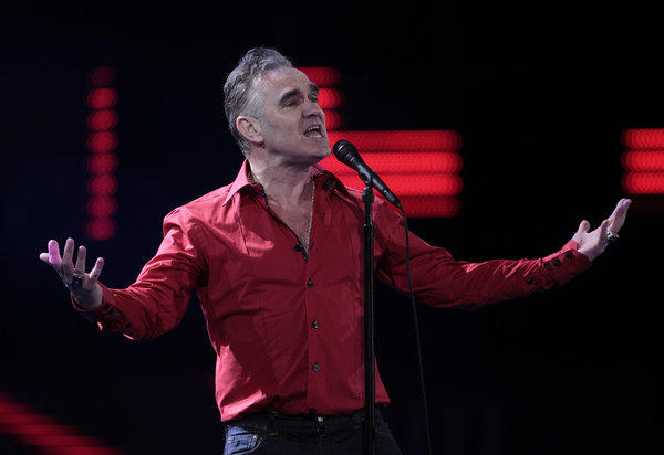 "Morrissey, performing at the Vina del Mar International Song Festival in Vina del Mar, Chile, doesn't want to share the stage with the animal-stalking crew of the reality TV series ""Duck Dynasty."""