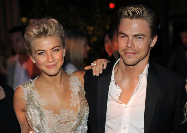 "Julianne Hough with her brother, dancer Derek Hough, at the post-premiere party for ""Safe Haven."""