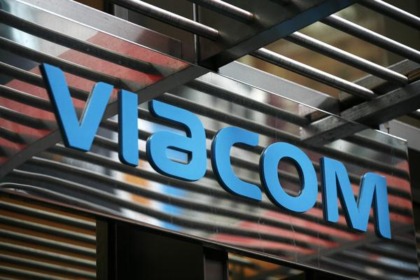 The entrance to Viacom's headquarters in New York.