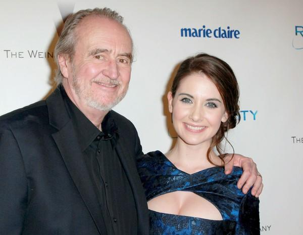 "Director <a class=""taxInlineTagLink"" id=""PECLB001179"" title=""Wes Craven"" href=""/topic/entertainment/wes-craven-PECLB001179.topic"">Wes Craven</a> and actress Alison Brie arrive at Relativity Media's and the Weinstein Co.'s 2011 Golden Globe Awards after-party at the Beverly Hilton."