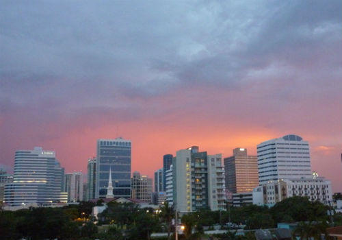 Clouds gather over downtown Fort Lauderdale.