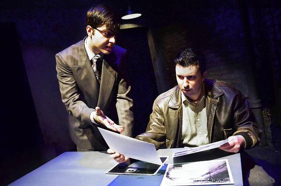 Steve Schine (right) and Volen Iliev at Lifeline Theatre.