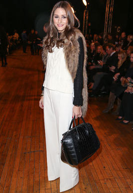 Olivia Palermo attends the Philosophy By Natalie Ratabesi fall 2013 fashion show during Mercedes-Benz Fashion Week at Roseland Ballroom on February 13, 2013 in New York City.