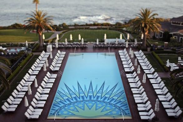 The pool of Montage Laguna Beach, which overlooks the Pacific Ocean.