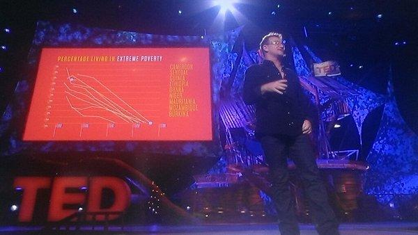 Bill Gates tweeted this photo of Bono's TED talk on poverty Tuesday.