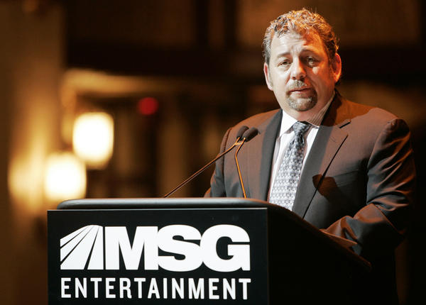 James L. Dolan, executive chairman of Madison Square Garden and CEO and president of Cablevision, talks during a news conference in New York in this Nov. 15, 2006, file photo.