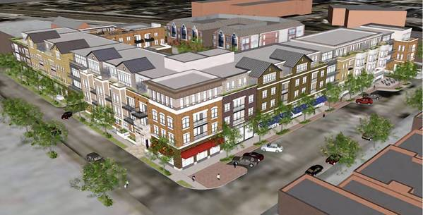 A rendering of the proposed Midtown Square development in Glenview.