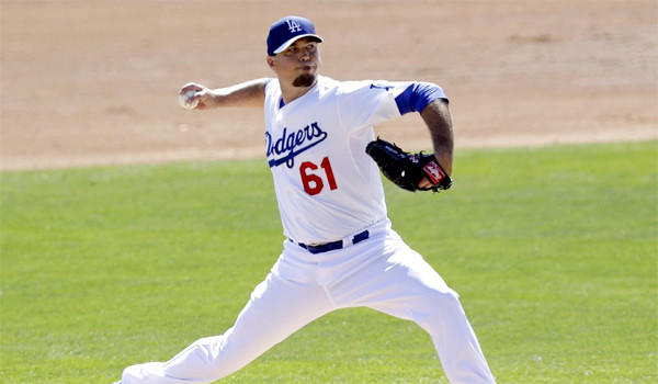 Josh Beckett held the Giants to just one hit over two innings and struck out three in his first start of spring training.