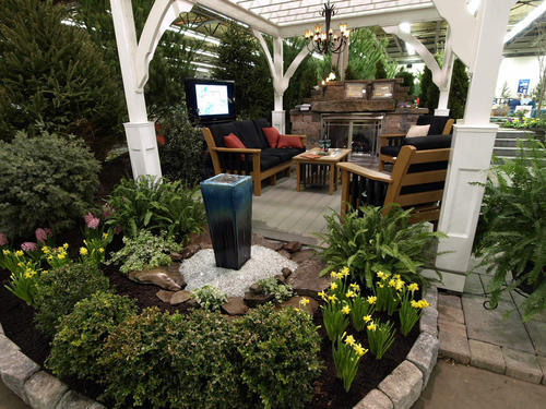 RidgeCrest Lawn and Landscape and Koi Creations, both in Hellertown, had an elaborate patio/garden/pond display in last yearâ¿¿s Valley Flower and Garden Show at Agri-Plex. Owner Chris Baumer has an impressive display planned for the 2012 show, as well.