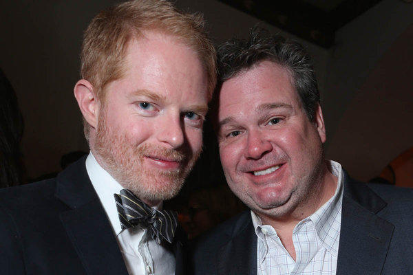 Jesse Tyler Ferguson, left, and Eric Stonestreet at the Grey Goose pre-Oscar party at Chateau Marmont on Saturday.