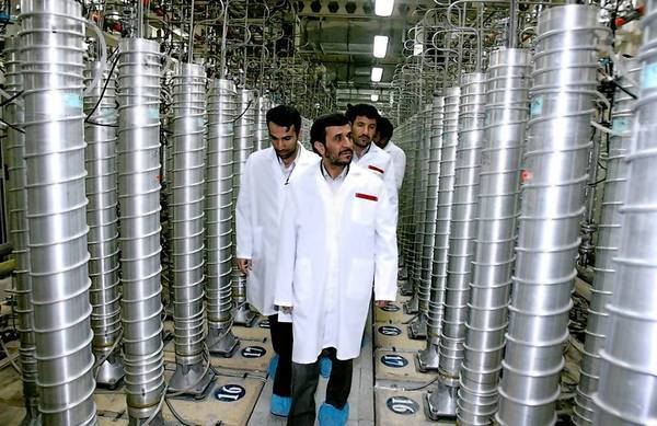 Iranian President Mahmoud Ahmadinejad inspects the Natanz nuclear plant in central Iran in 2007. Tehran is participating in talks with six world powers over its nuclear program