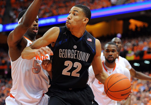 Georgetown's Otto Porter moves the ball against Syracuse.