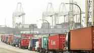 Operations at the ports of Los Angeles and Long Beach may slow if automatic spending cuts go into effect Friday, port officials said, as fewer U.S. customs officers would delay the flow of international cargo through the massive sea ports.
