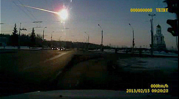 A dashboard camera caught the meteor streaking across the Russian sky on Feb. 15.