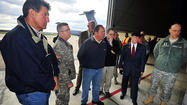 Automatic federal budget cuts set to take effect Friday would mean thousands of temporary layoffs for National Guard and civilian defense workers in West Virginia, including those at the 167th Airlift Wing near Martinsburg, along with reduced funding for several other programs, U.S. Sen. Joe Manchin said Tuesday.