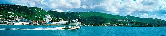Island hopping is easy with sea planes and they provide a great view of St. Thomas