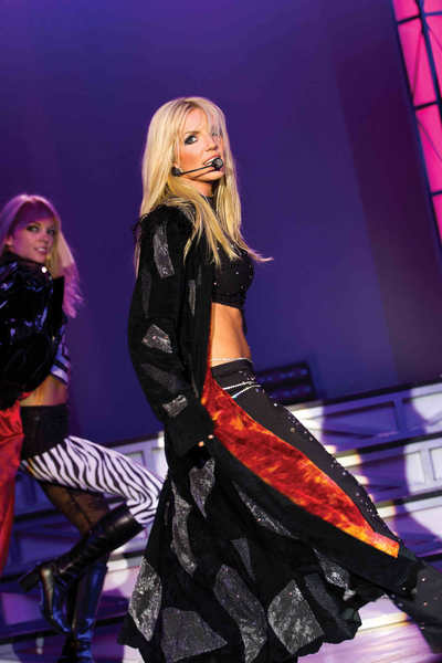 "Katie Murdock pays tribute to Britney Spears in ""Legends in Concert"" at the Vegas Flamingo."