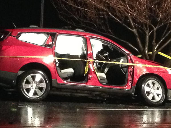A car crash Tuesday night near the intersection of Reisterstown Road and Caraway Road in Reisterstown killed the driver of a Toyota Corolla and seriously injured the driver of this Chevy Traverse.