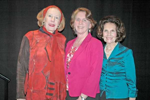 Las Candelas members honored for more than 45 years of service were, from left, Fran Buchanan, 45 years; Mary Ashford, daughter of the late Merle Hollywood, 48 years; and Diane Johnson, 46 years.