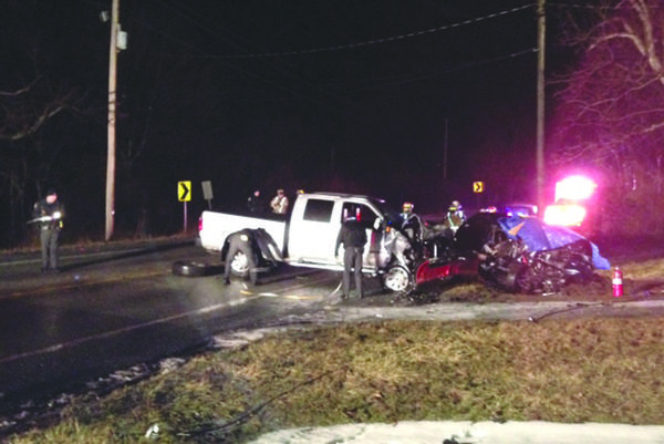 A Ligonier man was killed in this collision on Route 30 Tuesday evening.