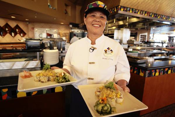 Yoshie Cabral recently retired as sushi chef at Disney's California Grill restaurant.