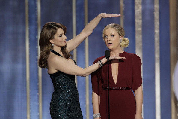 Tina Fey and Amy Poehler host the 70th Annual Golden Globe Awards on January 13, 2013.