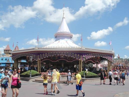The Priince Charming Regal Carrousel at Magic Kingdom was formerly known as Cinderella's Golden Carrousel