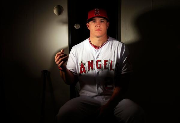 Mike Trout will lead off for the Angels this season.