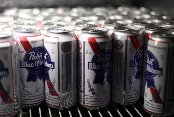 PBR's famous blue ribbon