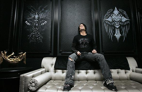 Criss Angel photographed Aug. 5, 2008, in his Las Vegas dressing room. The magician-illusionist who has a popular cable TV show is teaming up with Cirque du Soleil on a production at the Luxor Hotel/Casino in Las Vegas.
