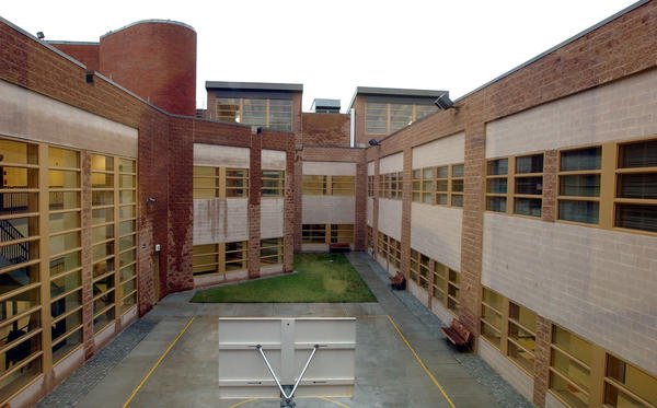 The courtyard was a 58,000 square foot addition to the Hartford Juvenile Detention Center in 2004.