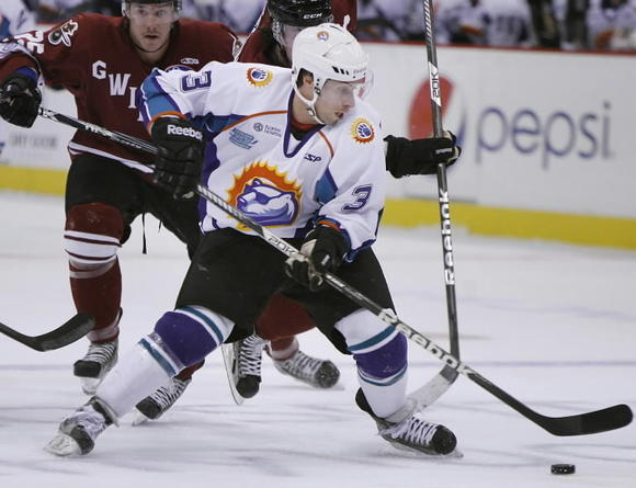 The Orlando Solar Bears and Ryan Ginand are currently 12th in the Eastern Conference playoff picture. (Stephen M. Dowell, Orlando Sentinel)