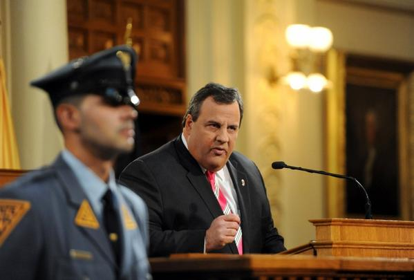 New Jersey Gov. Chris Christie, shown Tuesday, signed legislation Wednesday authorizing Internet gambling.