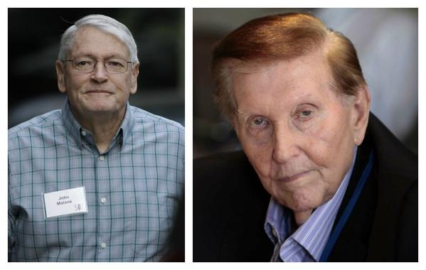 John Malone, left, and Sumner Redstone