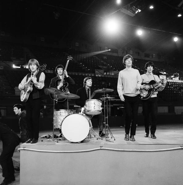 The Rolling Stones, in a 1964 rehearsal photo, will be the subject of a major exhibition coming to the Rock and Roll Hall of Fame in Cleveland starting May 24.
