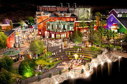 Although it never came to pass, in 2010, Disney announced plans for a re-imagined Pleasure Island that was supposed to be a take on 20th century amusement piers, Hyperion Wharf was to feature trendy boutiques, a lakeside park and unique dining among a wonderland of lights.
