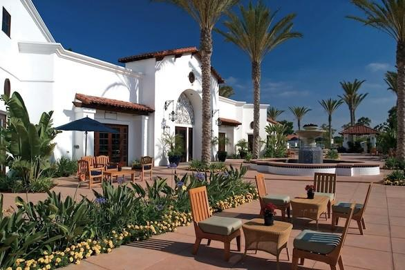 The plaza area at La Costa Resort and Spa in Carlsbad, Calif. The property had a $50-million makeover two years ago.