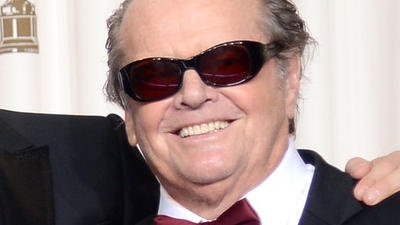 Oscars: Jack Nicholson, Jennifer Lawrence cross paths, charmingly