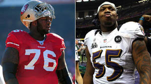 49ers tackle Anthony Davis calls Ravens' Terrell Suggs a 'loser'