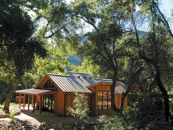 The retreat center at Tassajara, nestled in the Ventana Wilderness in Central California.